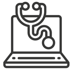 Servizio di assistenza informatica immagine pc+fonendoscopio