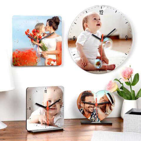 orologio da tavolo e da parete con foto