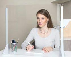 schermo protettivo trasparente scrivania