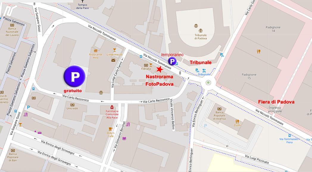 Mappa dove parcheggiare